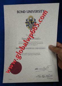 buy Bond University degree certificate